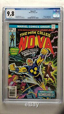 Nova #1 CGC 9.8 NM/M 1st Appearance Origin Nova White Pages