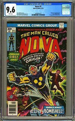 Nova #1 Cgc 9.6 White Nm+ Origin & 1st Nova/richard Rider Ginger Jaye