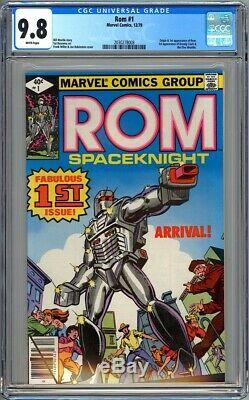 Rom #1 Cgc 9.8 White Nm/mt Origin & 1st Appearance Dire Wraiths