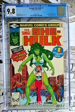 SAVAGE SHE-HULK #1 CGC 9.8! White pages Origin/1st app. Of She-Hulk