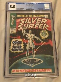 SILVER SURFER #1 CGC 8.0 (Off White Pages) ORIGIN OF SILVER SURFER & THE WATCHER