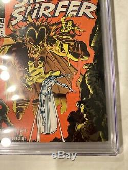 SILVER SURFER #3 CGC 8.0 1st Mephisto Off-White Pages