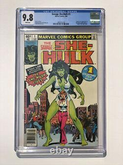 Savage She-Hulk #1 CGC 9.8 NEWSSTAND Cover Variant Marvel Comics 1980 White Pg