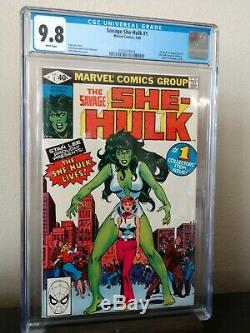 Savage She-Hulk #1 CGC 9.8 White Pages 1980 1st app. And origin She Hulk