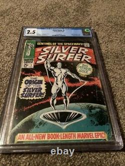 Silver Surfer #1 Cgc 2.5 Off-white To White Pages- Origin Of The Silver Surfer