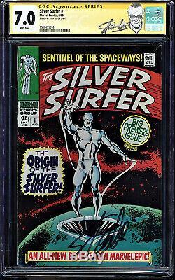 Silver Surfer #1 Cgc 7.0 White Ss Stan Lee Silver Surfer Origin Cgc #1508475016