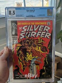 Silver Surfer #3 CGC 8.5 1st Mephisto White Pages Silver Age Key