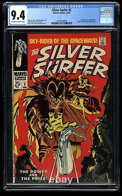 Silver Surfer #3 CGC NM 9.4 Off White to White 1st Mephisto! Marvel Comics