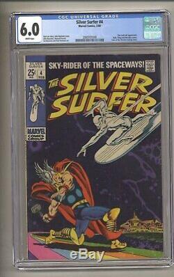 Silver Surfer #4 (CGC 6.0) White pgs Thor Loki Marvel Comics 1969 (c#27074)