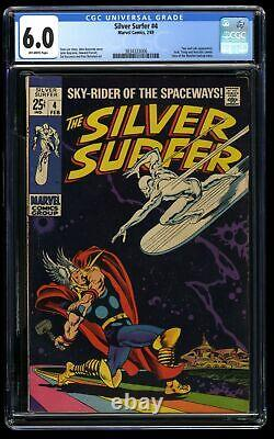 Silver Surfer #4 CGC FN 6.0 Off White vs Thor