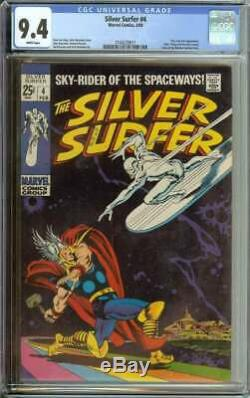 Silver Surfer #4 Cgc 9.4 White Pages