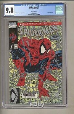Spider-Man #1 (CGC 9.8) White pages McFarlane Platinum Edition 1990 (c#27960)
