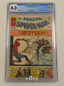 Spiderman Amazing #13 Cgc 4.0 Marvel Mysterio June 1964 Cream To White Pgs (sa)