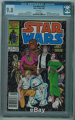 Star Wars #107 Cgc 9.8 Last Issue White Pages Copper Age