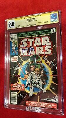 Star Wars #1 CGC 9.8 SS Harrison Ford! Actor Han Solo blue signature white pages