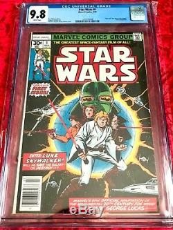 Star Wars #1 Cgc 9.8 Marvel July 1977 White Pages