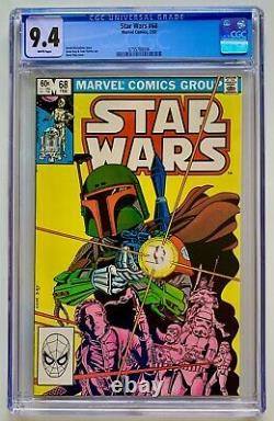 Star Wars #68 CGC 9.4 WHITE (1983) 1st Mandalorian Boba Fett UNREAD
