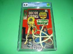 Strange Tales #158 CGC 8.0 with OWithWhite pages 1967! 1st Living Tribunal not CBCS