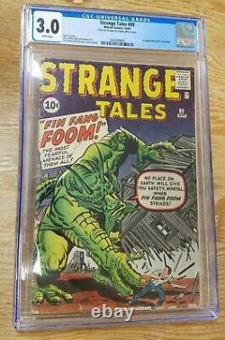 Strange Tales #89 CGC 3.0 White Pages 1st Appearance Fin Fang Foom
