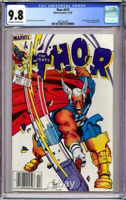 THOR #337 CGC 9.8 OWithWHITE PAGES NEWSSTAND 1st APPEARANCE BETA RAY BILL 1983