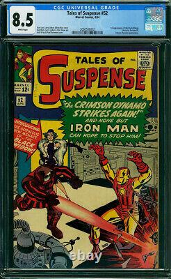 Tales Of Suspense #52 First Black Widow Cgc 8.5 White Pages! Movie Coming