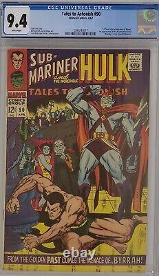 Tales To Astonish #90 Cgc 9.4 Sub-mariner Hulk 1st Abomination White Pages