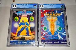 Thanos Quest 1 & 2 CGC 9.8 White Pages 2nd Print Set 1990