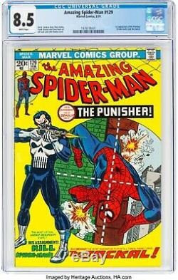The Amazing Spider-Man #129 CGC 8.5 White Pages -1ST PUNISHER