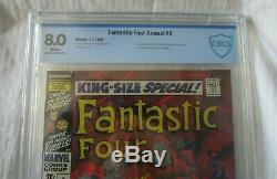 The Fantastic Four Annual #6 1st Annihilus CBCS 8.0 NOT Pressed/ Not CGC White
