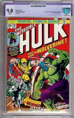 The Incredible Hulk #181 (1974) CBCS 9.8 WHITE NOT CGC 1st First App Wolverine