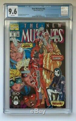 The New Mutants #98 CGC 9.6 1st App Deadpool Cable 2 Liefeld X-Men White Pages