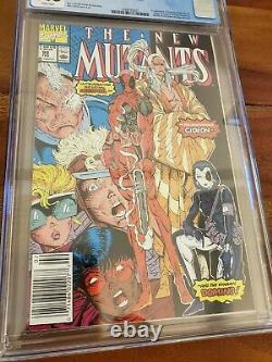 The New Mutants #98 CGC 9.6 1st appearance of Deadpool Newsstand White Pages