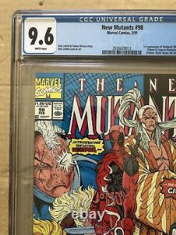 The New Mutants #98 NEWSSTAND-RARE! (Feb 1991, Marvel) CGC 9.6 White Pages