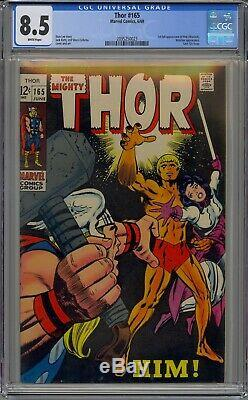 Thor #165 Cgc 8.5 White Pages 1st Him Warlock