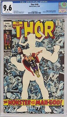 Thor #169 Cgc 9.6 Origin Of Galactus White Pages