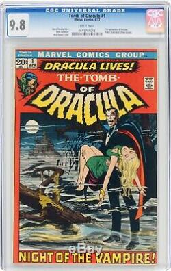 Tomb of Dracula #1 cgc 9.8 WHITE Pages (1st Dracula) 0615701012 Pre- Blade