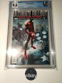 Ultimate Fallout #4 CGC 9.6 White Pages 1st Miles Morales Marvel Comics 2011