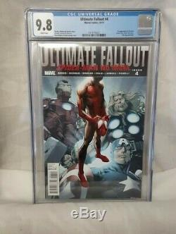 Ultimate Fallout 4 CGC 9.8 WHITE PAGES 1st Miles Morales Spiderman HIGH QUALITY