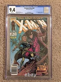 Uncanny X-Men #266 CGC 9.4 NM WHITE Pgs UPC/Newsstand! 1st Gambit