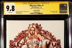 Uncanny X-men #1 Cgc Ss 9.8 Mark Brooks Virgin Emma Frost White Queen Wolverine