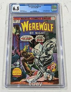 WEREWOLF BY NIGHT #32 CGC 6.5 1ST APPEARANCE OF MOON KNIGHT OWithWHITE PAGES