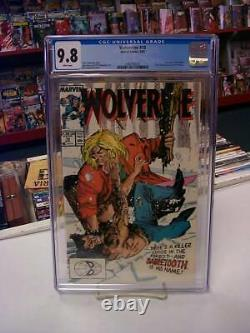WOLVERINE #10 (Marvel Comics, 1989) CGC Graded 9.8 SABRETOOTH White Pages