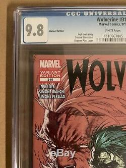 WOLVERINE #310 CGC 9.8 WHITE Pages Variant Edition by Stephen Platt