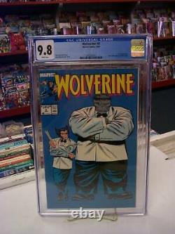 WOLVERINE #8 (Marvel Comics, 1989) CGC Graded 9.8 HULK White Pages