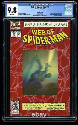 Web of Spider-Man #90 CGC NM/M 9.8 White Pages Hologram Cover