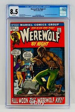 Werewolf By Night #1 CGC 8.5 White Pages Marvel Comics 1972 Hot Key Grail VF+