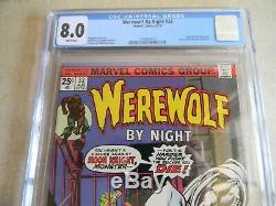 Werewolf By Night #32 (Aug. 1975, Marvel) CGC 8.0 VF WHITE PAGES 1st Moon Knight
