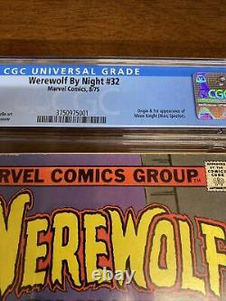 Werewolf By Night 32 CGC 5.5 1st Appearance Moon Knight Off-White to White Pages