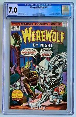 Werewolf By Night #32 CGC 7.0 WHITE (1975) Original & 1st app of Moon Knight