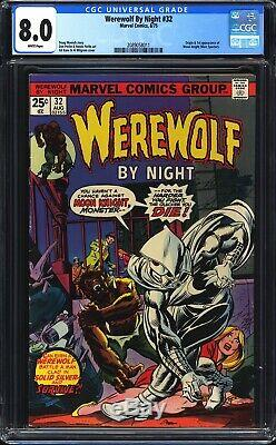 Werewolf By Night #32 CGC 8.0 Origin & 1st app of Moon Knight WHITE PAGES